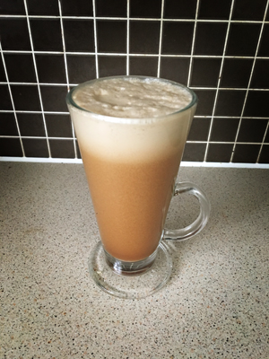 Coconut Oil Latte Coffee